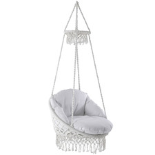 Fringed Deluxe Macrame   Hammock Chair