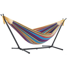 Combo Double Cotton Hammock with Stand