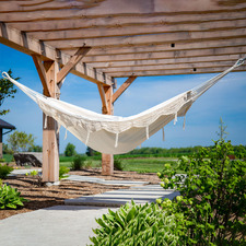 Fringed Brazilian Double Cotton Hammock