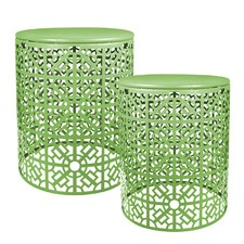 2 Green Global Tables Set