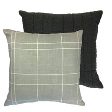 Linear Copenhagen Reversible Linen-Blend Cushion