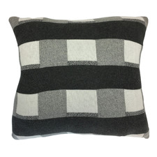 Charcoal Check Cotton Cushion