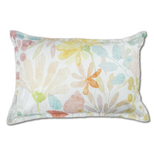 Windflowers Linen-Blend Breakfast Cushion