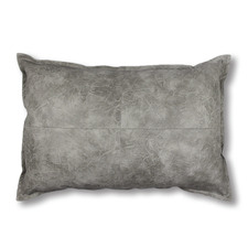 Grey Boston Lumbar Breakfast Faux Leather Cushion