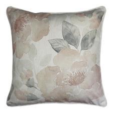 Japandi Gardenia Linen-Blend Cushion