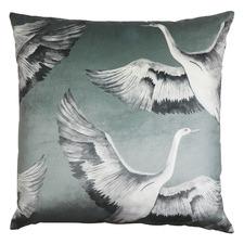Crane Velvet Cushion