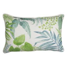 Aqua & Green Botanical Cotton Breakfast Cushion
