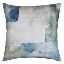 Japandi Abstract Linen-Blend Cushion