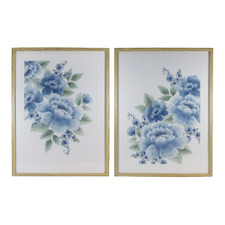 2 Piece Blue Camilla Framed Printed Artwork
