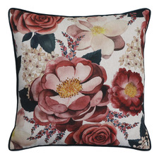 Floral Grace Linen-Blend Cushion
