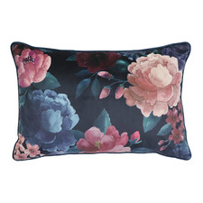Floral Eclipse Velvet Breakfast Cushion