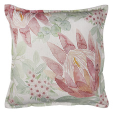 Protea Bouquet Linen-Blend Cushion