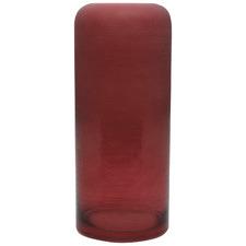 Frosted Claret Glass Decorative Vase