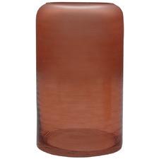 Frosted Dusk Glass Decorative Vase