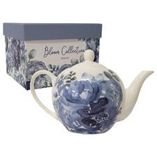 Blue & Indigo Bloom 1L New Bone China Teapot