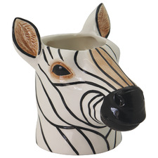 Zebra Ceramic Planter