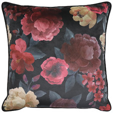 Floral Eclipse Square Velvet Cushion
