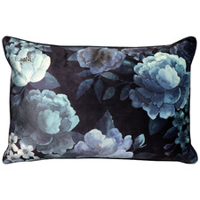 Ink Floral Eclipse Rectangular Velvet Cushion