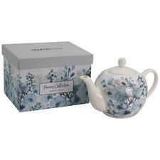 Aqua Pansy New Bone China 1L Teapot