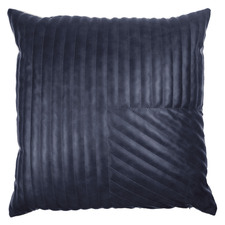 Blue Quilted Milan Faux Leather Cushion