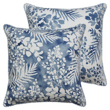 Fernery Linen-Blend Cushion