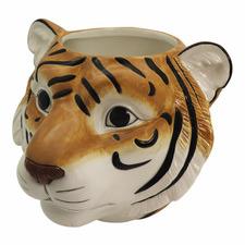 Tiger Head Ceramic Planter