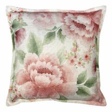 Blush Camilla Linen-Blend Cushion
