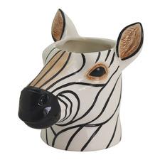 Zebra Ceramic Planter