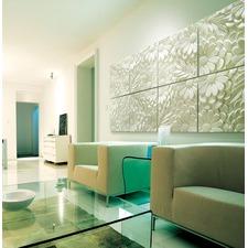 White Blossom 3D Wall Art (Set of 4)