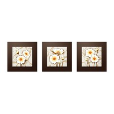 Hand Made 3 Piece Narcissus HDF 3D Wall Art Set (Set of 3)