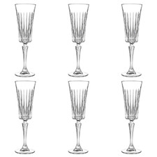 Timeless 210ml Glass Champagne Flutes (Set of 6)