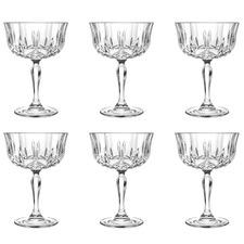 Opera 240ml Champagne Coupe Glasses (Set of 6)