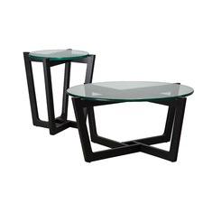 Monterey Black Leg Coffee & Side Table Set