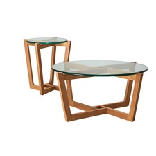 Monterey Natural Coffee U0026 Side Table Set