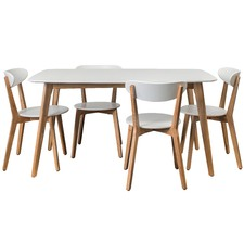 White Oslo 5 piece Dining Set