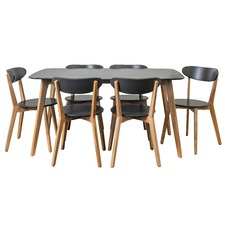 Graphite Grey Oslo 7 piece Dining Set