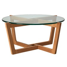 Monterey Glass & Oak Coffee Table