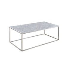 Annecy White Marble Coffee Table