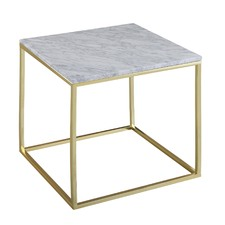 Como White Marble Side Table