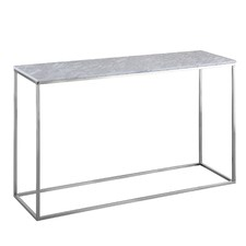 Annecy White Marble Console Table