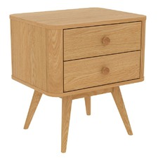 Stockholm Bedside Table in Oak - 2 Drawers