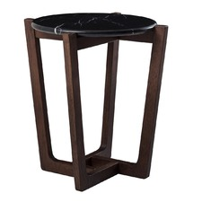 Monterey Black Marble Side Table