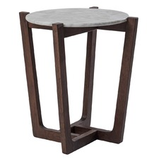 White Marble Monterey Side Table