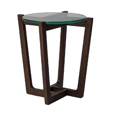 Glass Monterey Side Table