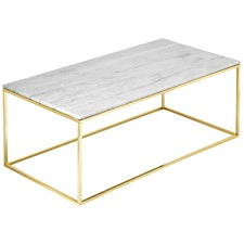 Como White Marble Coffee Table
