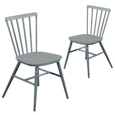 Miller Aluminium Outdoor Dining Chairs (Set of 2)