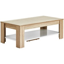 Light Oak & White Montreal Coffee Table