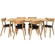 6 Seater Rectangular Fjord Dining Table & Chair Set