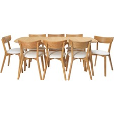 8 Seater Rectangular Fjord Dining Table & Chair Set