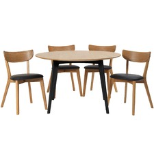 4 Seater Round Bjorn Dining Table & Chair  Set